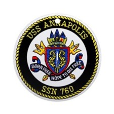 USS Annapolis SSN 760 Ornament (Round)