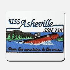 USS Asheville SSN 758 Mousepad