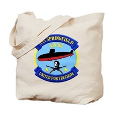 USS Springfield SSN 761 Tote Bag
