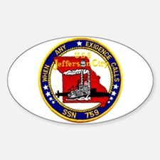 USS Jefferson City SSN 759 Oval Decal