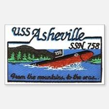 USS Asheville SSN 758 Rectangle Decal