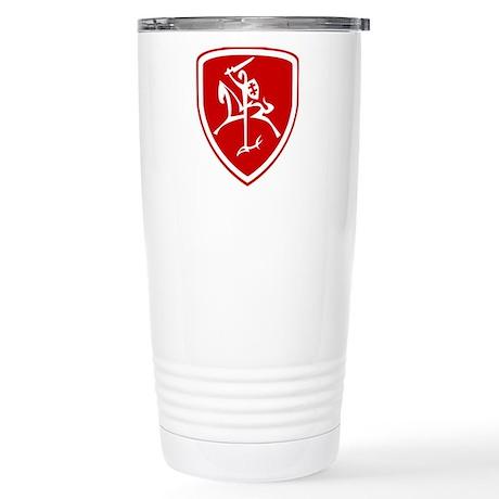 Red Vytis Stainless Steel Travel Mug