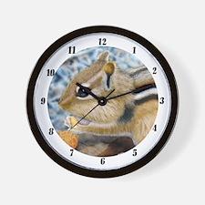 Chipmunk with peanut Wall Clock