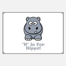 H is for Hippo! Banner