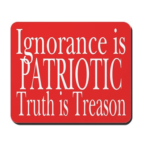 Truth is Treason (red) Mousepad