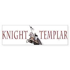 Templar on rearing horse Bumper Sticker
