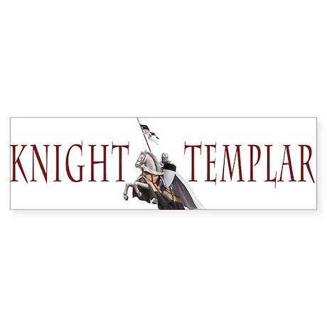 Templar on rearing horse Sticker (Bumper)