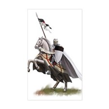 Templar on rearing horse Decal