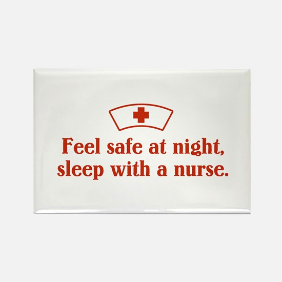 Feel safe at night, sleep with a nurse. Rectangle