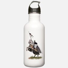 Templar on rearing horse Water Bottle