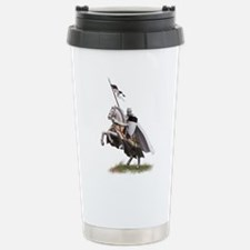 Templar on rearing horse Travel Mug