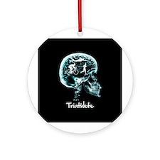 x-ray man triathlete Ornament (Round)