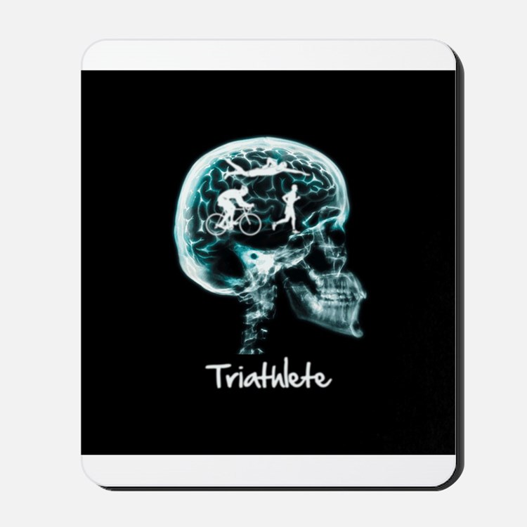 x-ray man triathlete Mousepad