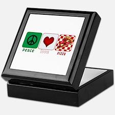 Peace Love Pizza Keepsake Box