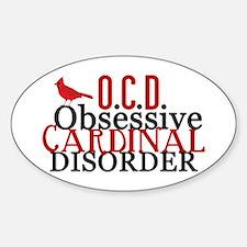 Funny Cardinal Sticker (Oval)