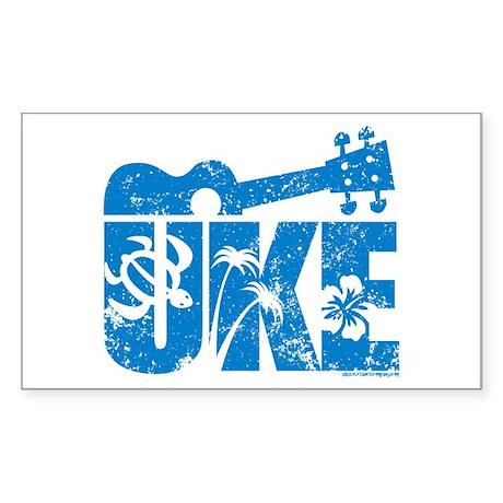 The Uke Stickers Sticker (Rectangle)