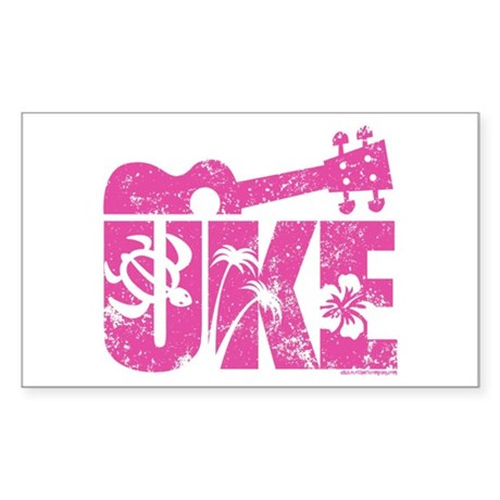 The Uke Stickers Sticker (Rectangle)
