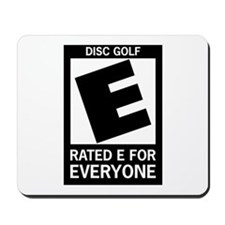 Rated E Disc Golf Mousepad