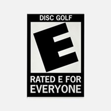 Rated E Disc Golf Rectangle Magnet