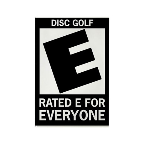Rated E Disc Golf Rectangle Magnet (10 pack)