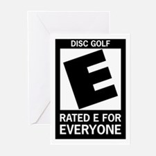Rated E Disc Golf Greeting Cards (Pk of 10)