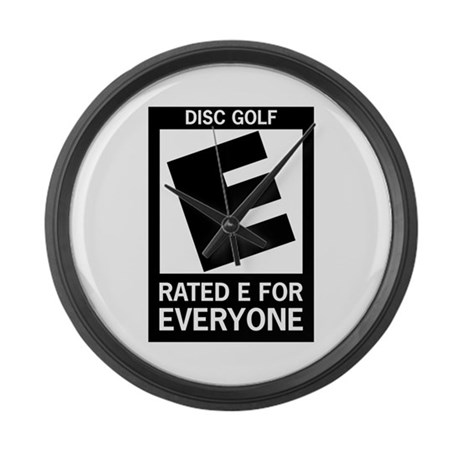 Rated E Disc Golf Large Wall Clock