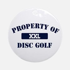 Property of Disc Golf Ornament (Round)