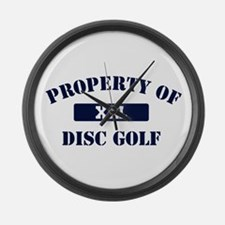 Property of Disc Golf Large Wall Clock