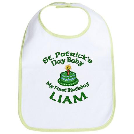 Customizable St. Pat's Baby Birthday Bib