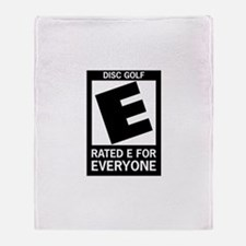 Rated E for Everyone Disc Gol Throw Blanket