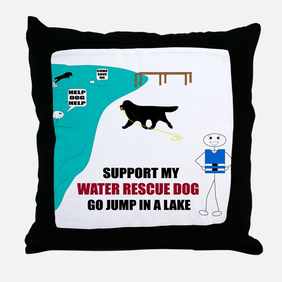 Funny Water rescue Throw Pillow