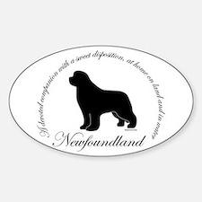 Devoted Black Newf Sticker (Oval)