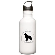 Devoted Black Newf Water Bottle