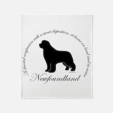 Devoted Black Newf Throw Blanket