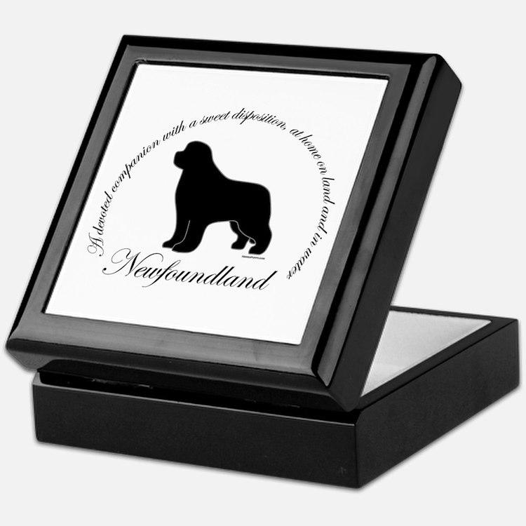 Devoted Black Newf Keepsake Box