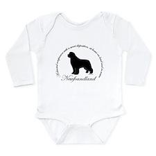 Devoted Black Newf Baby Suit