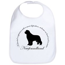 Devoted Black Newf Bib