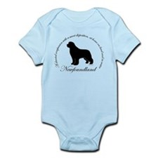 Devoted Black Newf Infant Bodysuit