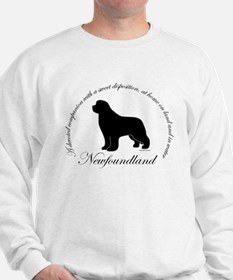 Devoted Black Newf Sweatshirt
