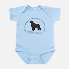 Devoted Gray Newf Infant Bodysuit