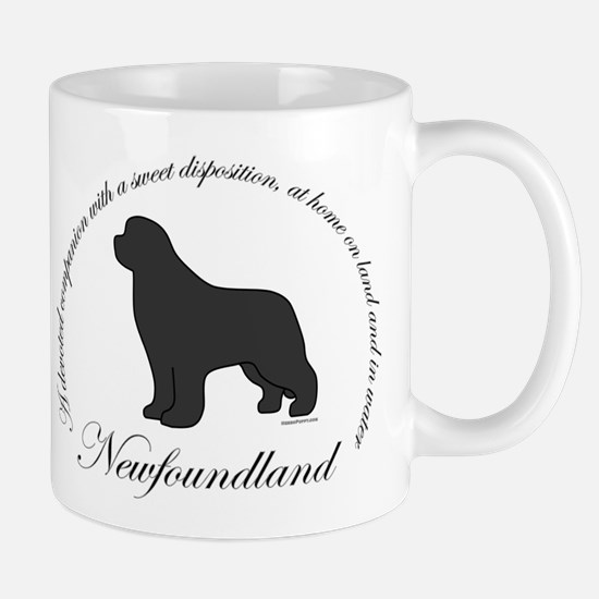 Devoted Gray Newf Mug