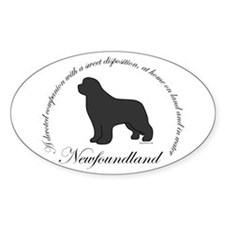 Devoted Gray Newf Decal