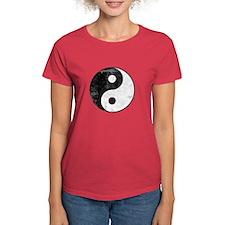 Distressed Yin Yang Symbol Tee
