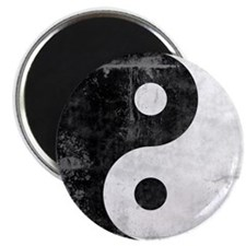 Distressed Yin Yang Symbol Magnet