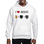 Beer + Computer Screen Hooded Sweatshirt
