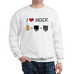 Beer + Computer Screen Sweatshirt