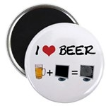 Beer + Computer Screen Magnet