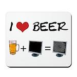 Beer + Computer Screen Mousepad