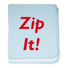 Morton Downey Jr. Zip It Baby Blanket