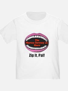 Morton Downey Jr. Zip It Logo T